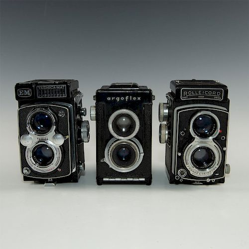 GROUP OF 3 TWIN LENS REFLEX ROLL FILM CAMERAS