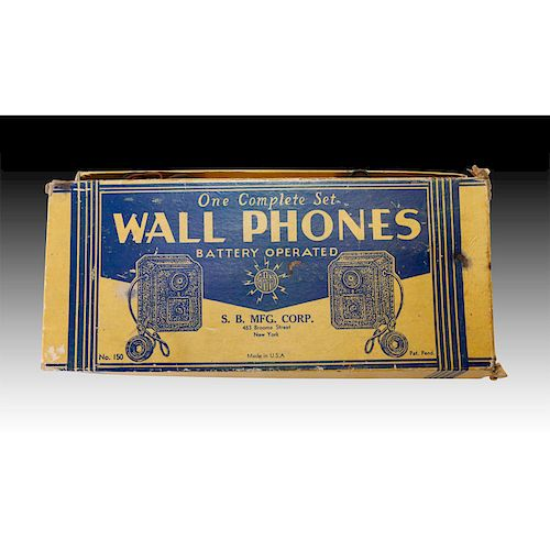 COMPLETE SET OF S.B. MFG. CORP. WALL PHONE INTERCOMS