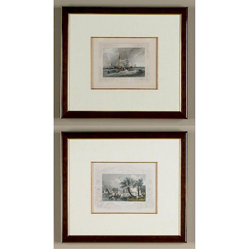 2 VICTORIAN ENGRAVED PRINTS, WILLIAM TOMBLESON, 1834
