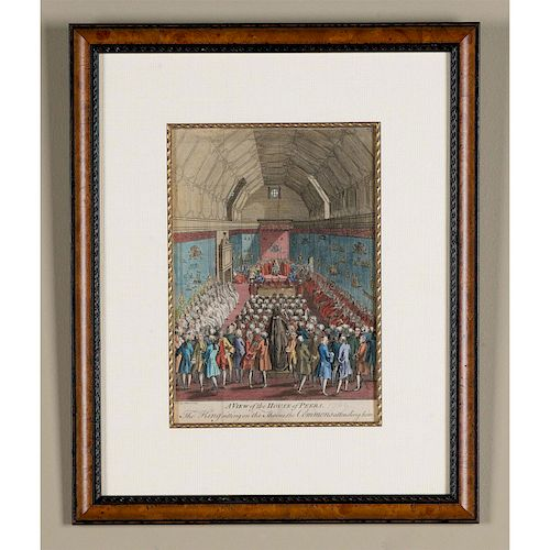 FRAMED COLOR PRINT, A VIEW OF THE HOUSE OF PEERS