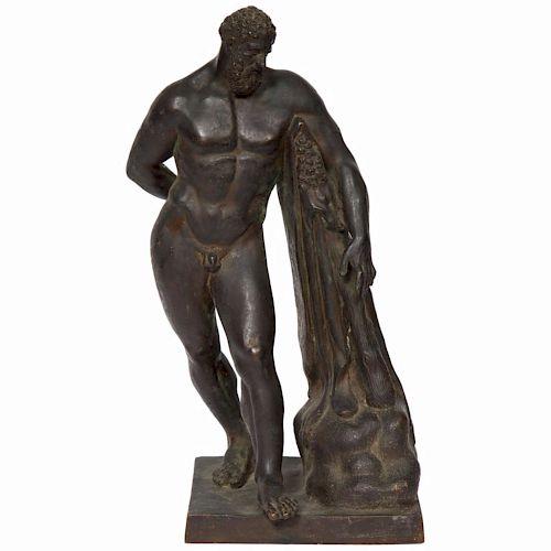 Italian Grand Tour Bronze Sculpture of Farnese Hercules, circa 18th Century