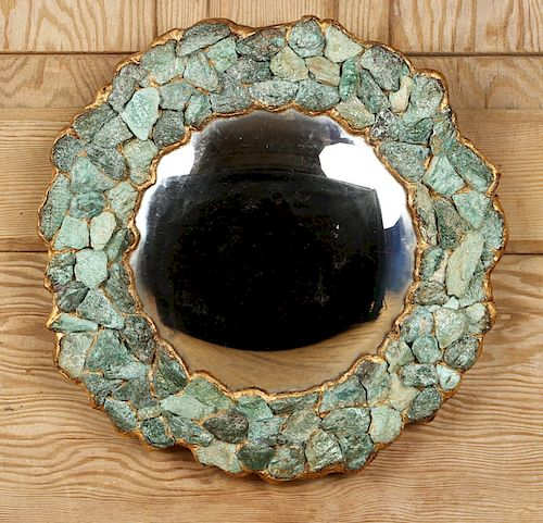 PETITE MIRROR FORM OF STYLIZED FLOWER CONVEX