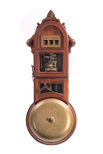 Rare Walnut Gamewell Fire Alarm Telegram Gong
