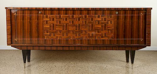 FRENCH ROSEWOOD SIDEBOARD PARQUETRY DESIGN C.1955