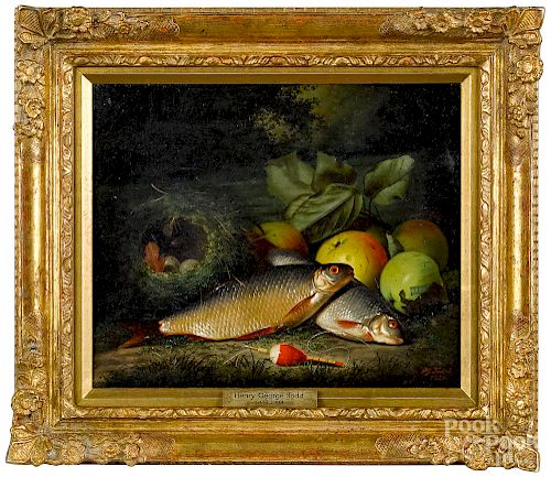 Henry George Todd, oil on canvas still life