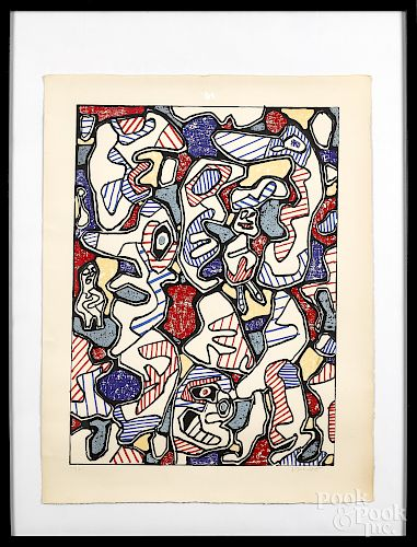 Jean Dubuffet, color lithograph