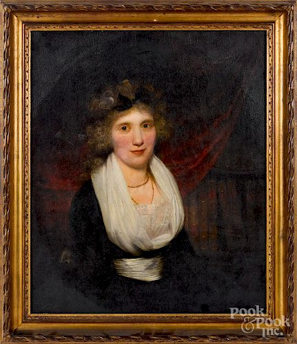 Oil on canvas portrait of a woman