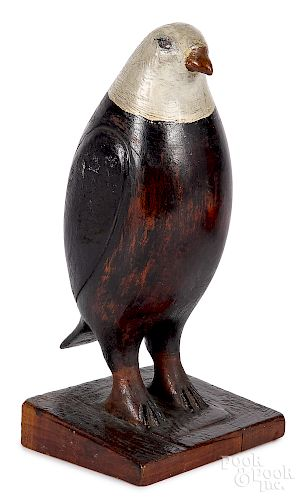 Joseph Moyer, carved and painted bald eagle