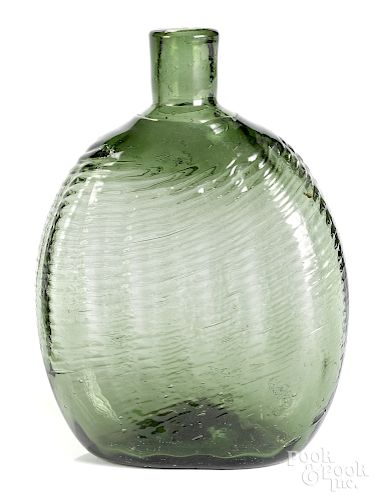 Midwestern or South Jersey pattern molded flask