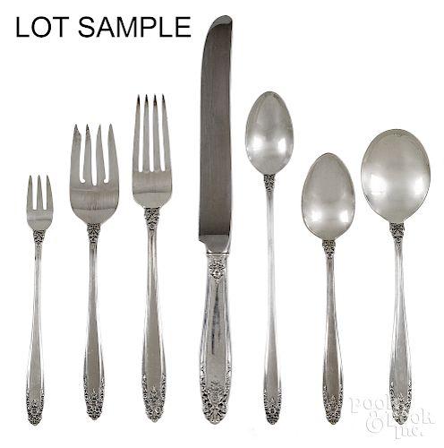 International sterling silver flatware service