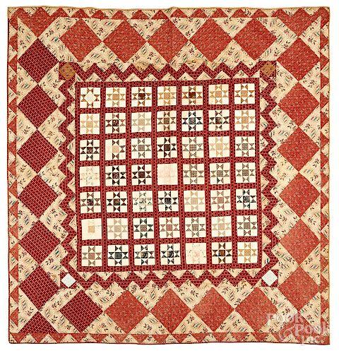 Pieced star quilt, 19th c.