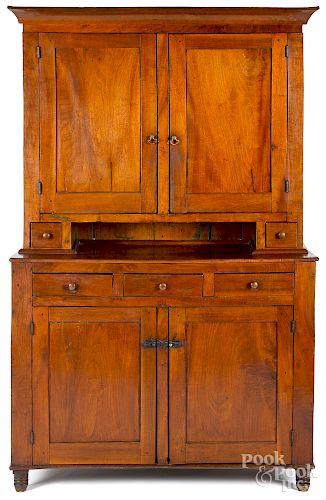 Pennsylvania walnut Dutch cupboard, mid 19th c.