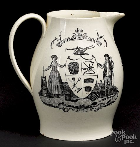 Liverpool Herculaneum pitcher, early 19th c.