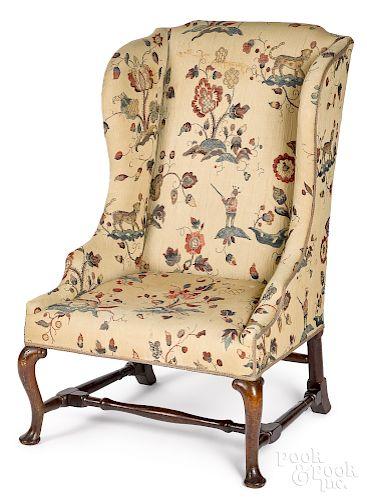 George II mahogany wing chair, ca. 1760
