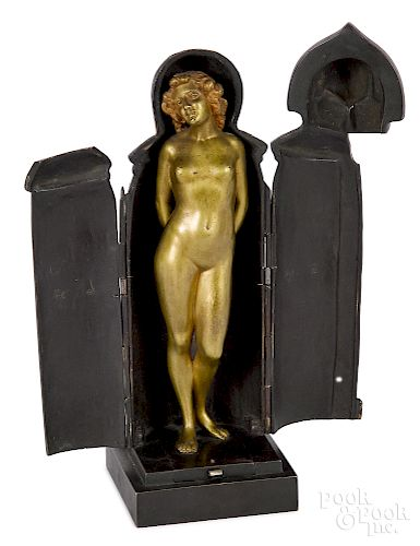 Gilt bronze nude of a woman
