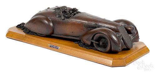 Stanley Wanlass bronze car sculpture