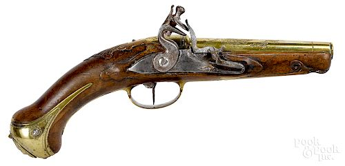 Continental flintlock tinder candle lighter, late 18th c.