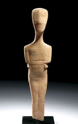 Superb Cycladic Marble Figure Spedos Type, Ex Sotheby's