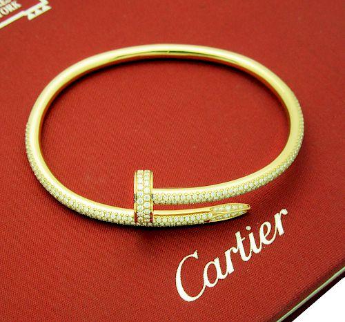 CARTIER JUSTE UN CLOU 18k ROSE GOLD DIAMOND BRACELET