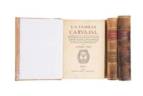 Toro, Alfonso / López, Rafael. La Familia Carvajal / Procesos de Luis de Carvajal (El Mozo). México, 1944 / 1935. Piezas: 3.