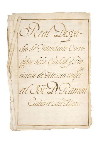 """Gutiérrez del Mazo, Ramón. Conjunto de documentos manuscritos relacionados con el ejercicio como """"Contador General... Fin. S. XVIII"""