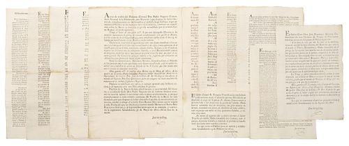 Cruz, José de la. Partes de Batallas por Diferentes Coroneles y Tenientes, durante la Guerra de Independencia... GDL,1811-12 Pzs:12.