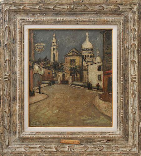 "Maurice Utrillo ""Montmartre"" Oil on Board"
