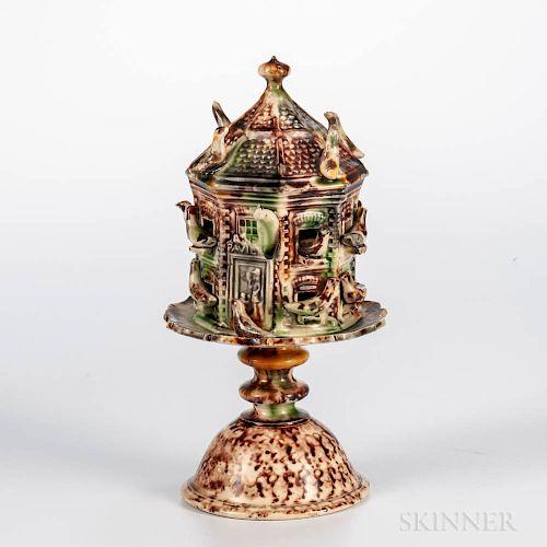 Staffordshire Creamware Model of a Dovecote