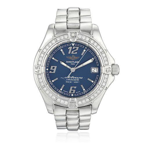 Breitling Colt Oceane Ref. A57350 Diamond Ladies Watch in Steel