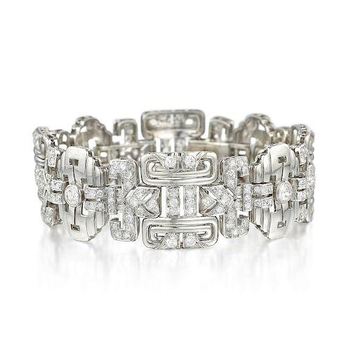 Art Deco Diamond Bracelet, French
