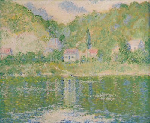Theodore Earl Butler, oil,  La Seine a Port-Villez