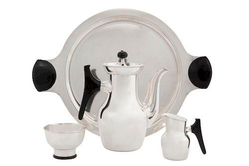 Tapio Wirkkala Kultakeskus Oy silver coffee set