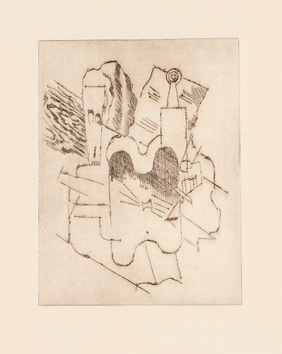 """Pablo Picasso (1881-1973) """"Nature morte au crane,"""" from Le Siege de Jerusalem, 1913"""