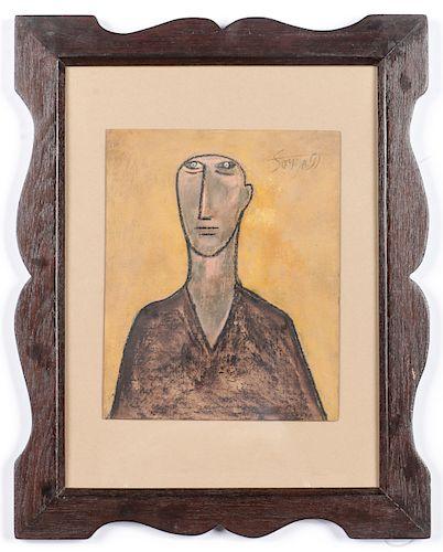 Francis Newton Souza (Indian, 1924-2002) Pastel