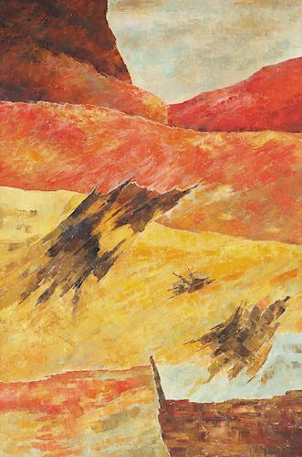 Ram Kumar (Indian, 1924-2018) Painting, 1998