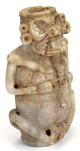 Taino (c. 1000-1500 CE) Rare Stone Anthropic Cohoba Stand