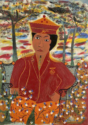 "Attr. to Hector Hyppolite (1894-1948) ""Dambala"""