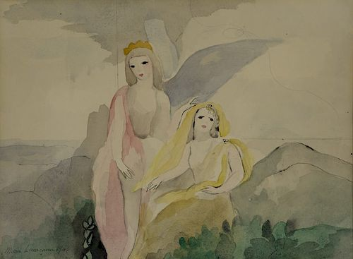 Marie Laurencin - Two Angels by Seashore