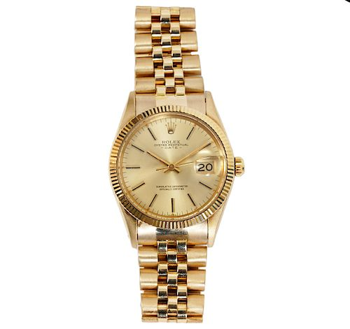 Rolex Gold Vintage Perpetual Date Watch