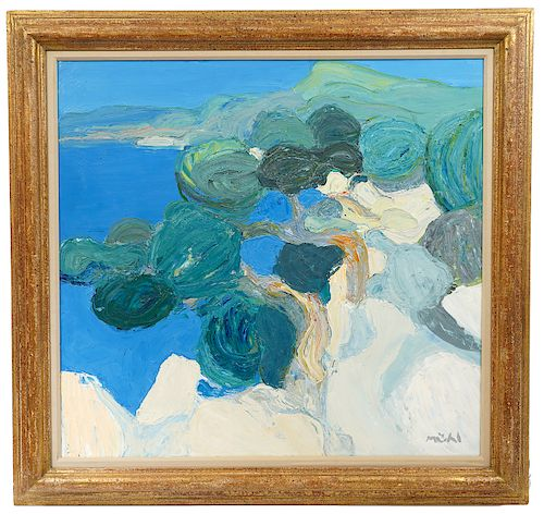 Roger Muhl 'Les Pins' Oil Painting