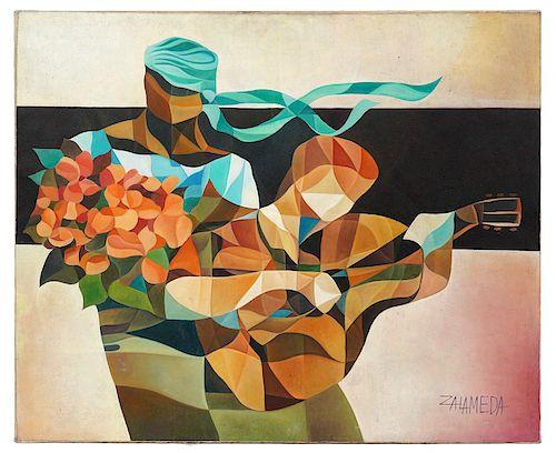 Oscar Deveza Zalameda Untitled Oil Painting By Abington