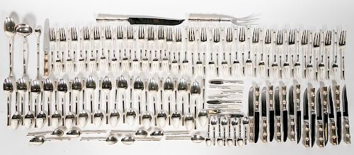 124 Pc, Tiffany & Co. Sterling Bamboo Flatware Set