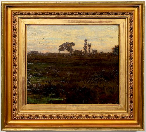 Julian Onderdonk Signed Oil, View on a Meadow