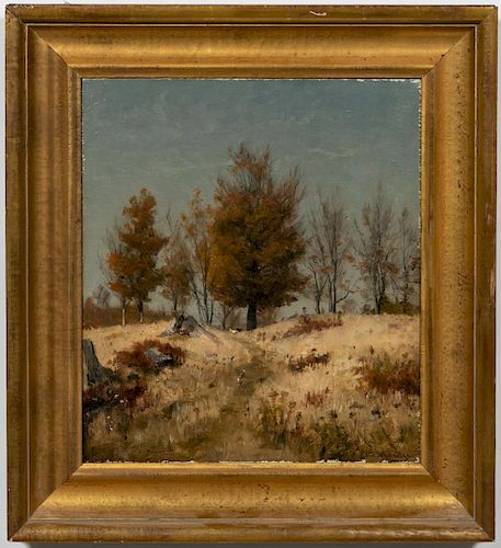 "Worthington Whittredge ""Autumn Landscape"" Oil"