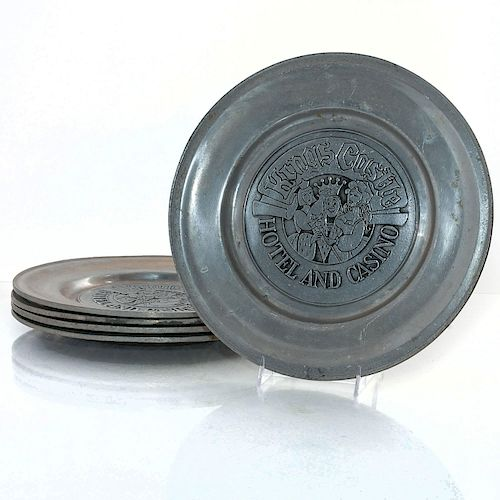 5 PEWTER KINGS CASTLE HOTEL AND CASINO PLATES
