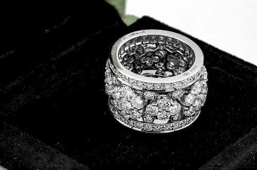 Van Cleef SnowFlake 6ct Diamond  Platinum Ring