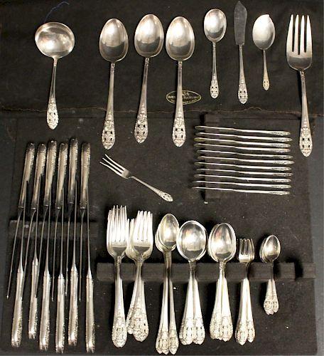 Fine Arts Sterling Silver Flatware Service