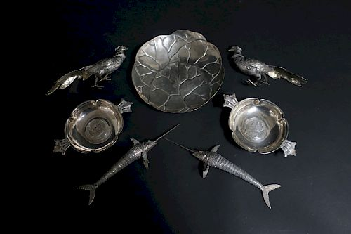 Seven Silver Pieces, Tiffany & others