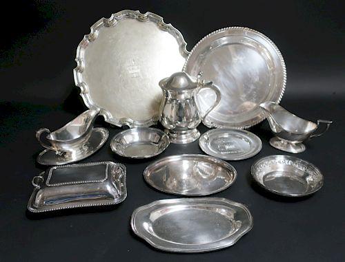 11  Silverplate Serving Pieces, Gorham,Sheffield