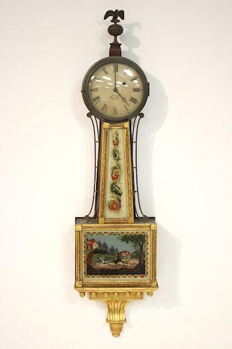 Aaron Willard Federal Banjo Clock, c. 1820